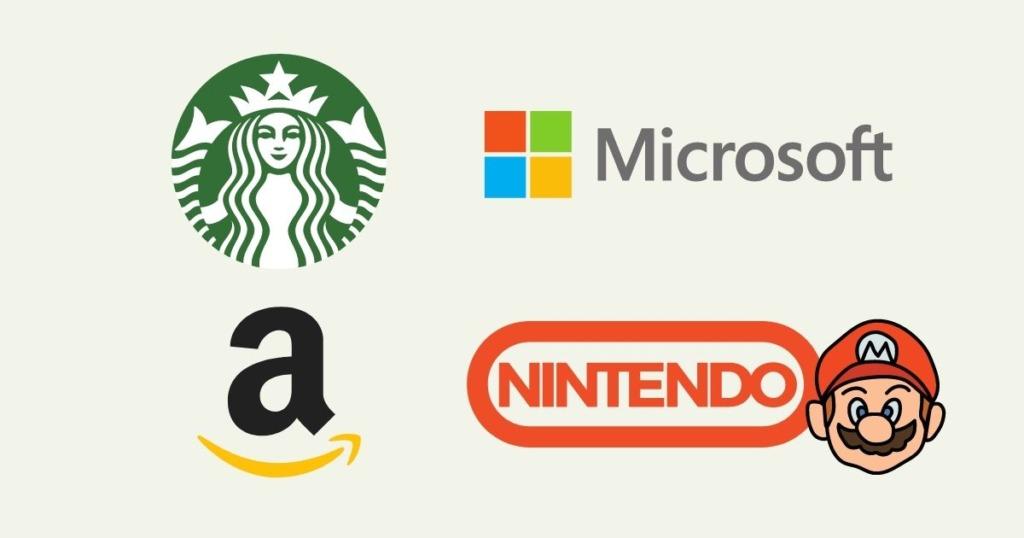 アマゾン。スタバ。任天堂。Microsoft